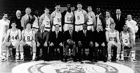"""""""Sly"""" con el mejor equipo de la historia. Los Celtics del año 1986"""