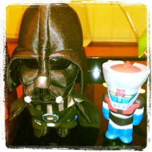 Mazinger y VDarth Vader